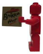 Brikka Hut Pizza Custom printed Lego tile for minifigures