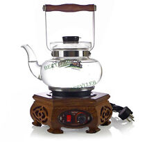 Kamjove Rare Wenge Classic Glass Tea Art Electric Pot T-40 0.8L 220V