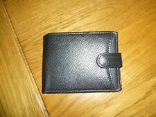 Mens Dark Brown Real Leather Hip Wallet With Zip Pocket Coin Pouch