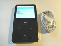 APPLE  iPOD  CLASSIC  5TH GEN.  BLACK  30GB...NEW BATTERY...