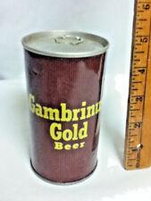 """Gambrinus gold beer older vintage metal can 12 oz. 4.75"""" Pittsburgh PA old BH4"""