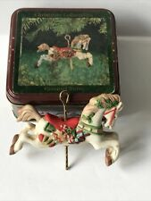 Willitts Christmas Ornament Carousel Horse Porcelain #5305