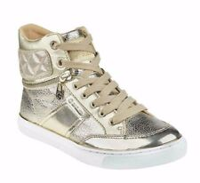 New in Box G by GUESS Women's Gold Metallic Ombae High-Top Fashion Sneakers 8.5