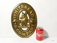 c1970,s  WHITBREAD & COMPANY Est 1742 Heavy Brass BEER Wall Plaque Sign 10x13""