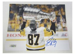 Sidney Crosby Penguins Signed Autographed 8x10 Photo Certified Coa