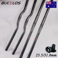 BUCKLOS 660-780mm Bar MTB/Downhill Bicycle Flat/Riser Handlebar 31.8/25.4mm AL