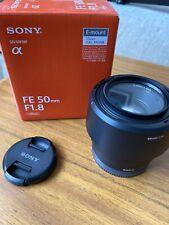 Sony FE 50 mm F/1.8 FE per Sony-nero con tappi, scatola e Filtro