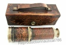 Dollond London Brass Telescope With Leather Case Vintage Spy Glass Scope Gift