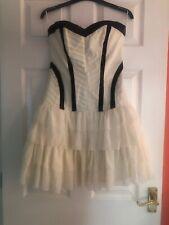 LADYS LIPSY STRAPLESS CREAM DRESS, SIZE 12