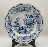 "Antique No.91 Stone China Plate Blue Transferware 10.5"" Staffordshire 1807-1822"