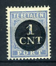 NEDERLAND P61 MH* 1923 - Portzegels uitgifte 1912-1920 overdrukt in zwart