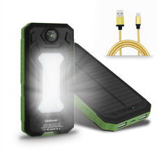50000mah Solar Power Bank Dual USB 9 LED External Battery Charger For Cell Phone