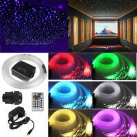 16W RGBW LED Fiber Optic Star Ceiling Lights Kit with Cables 300pcs 2m 0.75mm
