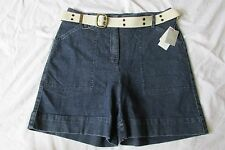 New with Tags Women's Charter Club Dark Blue Jean/Denim Bermuda Shorts Size 10