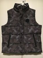 UGG Australia Mens Nathaniel Camouflage Camo Down Filled Hooded Vest X-Large