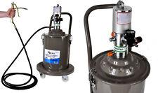 Profi  Fettpresse pneumatisch Druckluft Abschmierpresse fahrbar 20 Liter Inhalt!