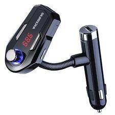 VicTsing Car MP3 Player FM Transmitter Bluetooth Handsfree Calls 2 USB Chargers