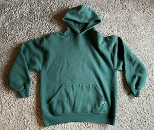 Vintage 90s Russell Athletic Blank Forest Green Pullover Hoodie Size L