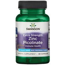 Swanson Extra Strength Zinc Picolinate - Body Preferred Form 50 mg 60 Caps