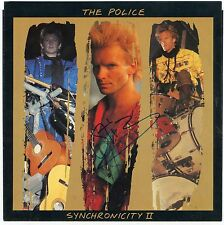 STING Signed  Police Synchronicity II Picture Sleeve 1984 PSA Guarantee