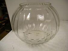 Antique Hoosier FLOUR JAR, Embossed w/28 Ribs, Great Jar w/Air Bubbles!!