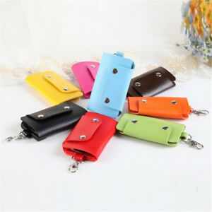 Candy Color Key Wallets Coin Purses Button Gift Pocket Keychain Key Holder Pouch