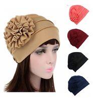 Fashion Muslim Women Flower Caps Hijab Arab Shawls Islamic Hats Scarf Headwear