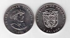 PANAMA - RARE 1 BALBOA UNC COIN  1984 YEAR KM#76 OMAR TORRIJOS