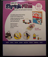 Ink Jet Printable Shrink Plastic White Craft Film - Jewelry, Card Making & More