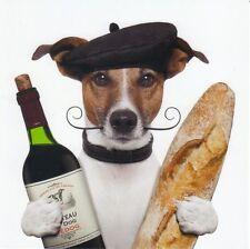 Pliante carte de luxe: Jack russel terrier Chico en tant que Français