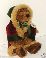 The Boyds Christmas Teddy Bear with Robe and Bell 10 Inches Brown All Occasion