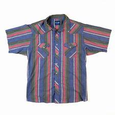 Vintage WRANGLER Jeans Striped Western Shirt Short Sleeve