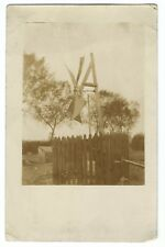 Unknown Location, Pioneer Style Windmill, Driving Pump RP PPC Unposted