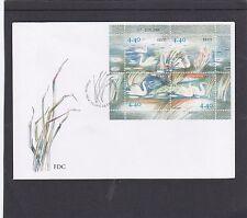 Estonia  2005 Swans MS minature sheet FDC Tallin special h/s