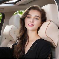 Car Seat Headrest Pad Memory Foam Pillow Head Neck Rest Support Cushion Travel