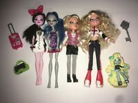 Monster High Bratz Dolls And Accessories Lot Of 8