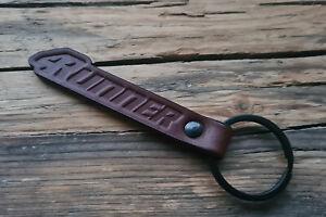 Handmade Embossed Brown Leather Keychain Keyring for Toyota 4Runner Key Fob