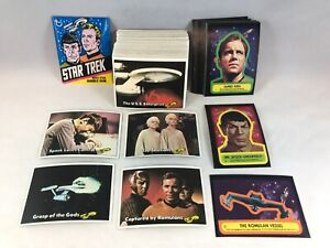 STAR TREK TOPPS 1976 Vintage Complete 88 Card Set w/ ALL 22 STICKERS & WRAPPER