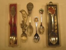 (Lot of 6) Collector Spoons SeaWorld Yellowstone Ou Sooners Nassau Arche [Z45c4]