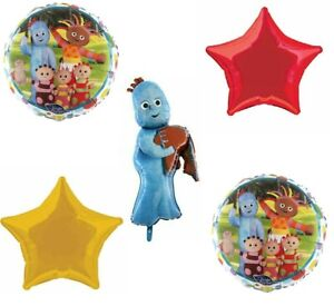 5pk In the night garden Helium supershape iggle piggle  Foil Balloon  Bouquet