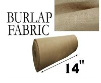 """Burlap Fabric Natural - 14"""" Wide - Sold By The Yard"""