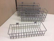 "Case of 8 New Wire Retail Shelf Display Hanging Basket 14"" x 5"" x 3"""