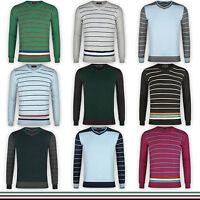 Men's Crew Neck Striped Sweatshirt