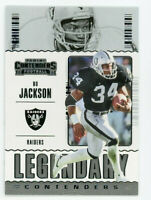 Bo Jackson / Barry Sanders, 2020 Contenders Legendary Lot Card #LC-BSA  / LC-BJA