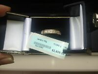 10k 3.2 GRAMS solid Yellow gold MASSIVE 1.10 CTW GENUINE DIAMOND RINGRRP $2609