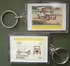 1906 SPYKER (Holland) Car Stamp Keyring (Auto 100 Automobile)