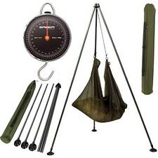 SABER CARP FISHING 60LB WEIGH SCALES + NGT WEIGHING TRIPOD SYSTEM WITH MUD FEET