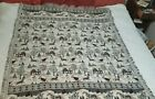 """Winter sleigh rides tapestry throw Coming Home 100% cotton 67"""" × 54"""""""