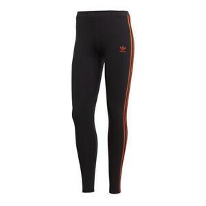 Adidas Originals Womens Leggings Casual 3 Stripe Tight Black DX2012