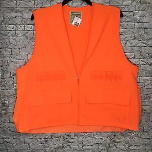 Northwest Territory Game Hunting Zip Up Vest Blaze Orange Men's XL